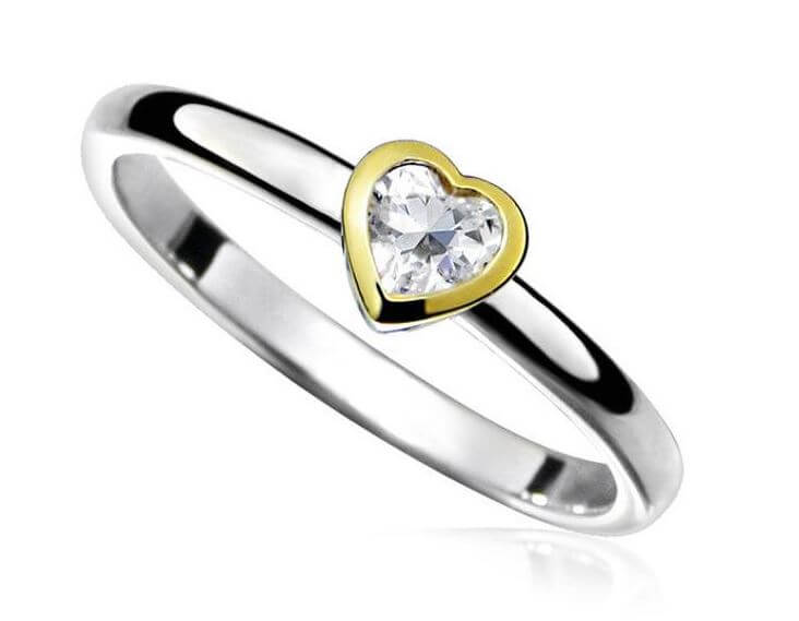 Picking the best ring setting for the heart cut